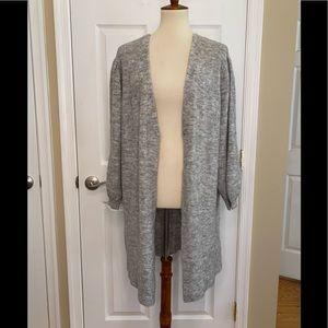 Topshop Women's Cardigan Sweater Grey Wool Alpaca